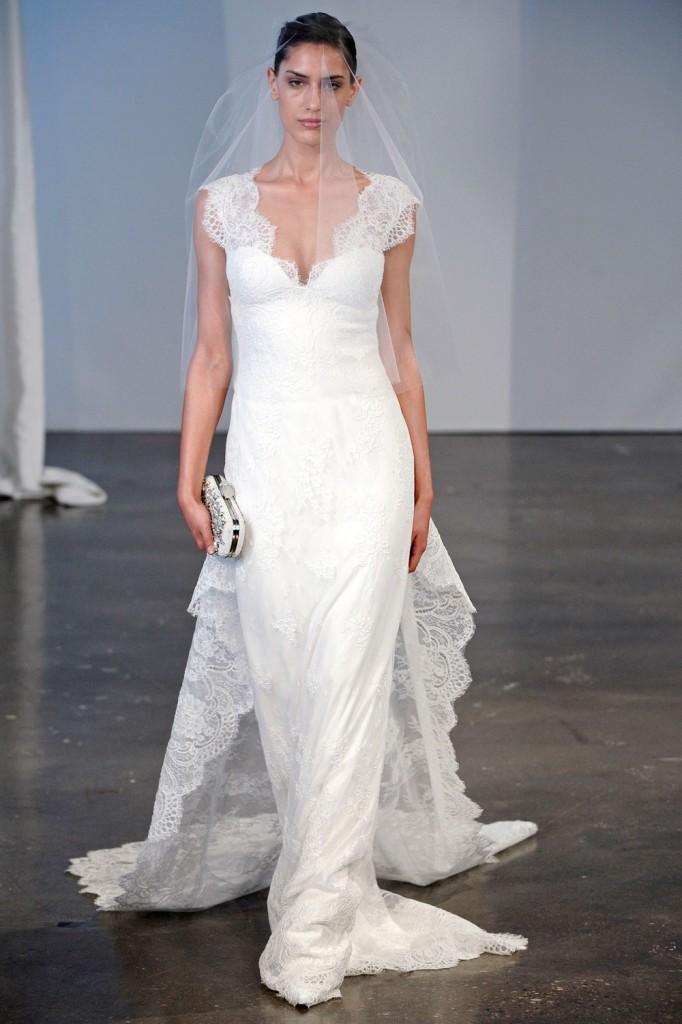 Si eres una novia clásica y elegante estos vestidos de Marchesa con un toque retro son ideales para ti!