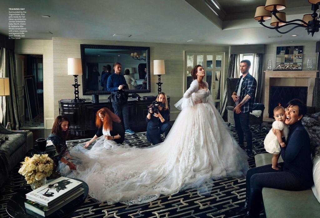 Vestidos de novia de famosas: Todavía no sabemos cómo será el vestido de Kim Kardashian, pero su producción nupcial para Vogue fue todo un éxito y una inspiración para todas las novias elegantes y chic!