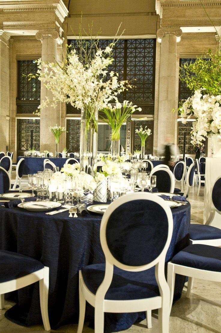 Boda en azul marino - Decoracion bodas ...