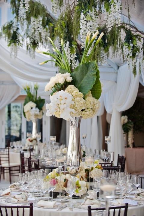Centros de mesa para boda en jardin espectaculares fotos - Centro de mesa con flores artificiales ...