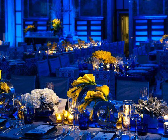 decoracion para bodas en azul