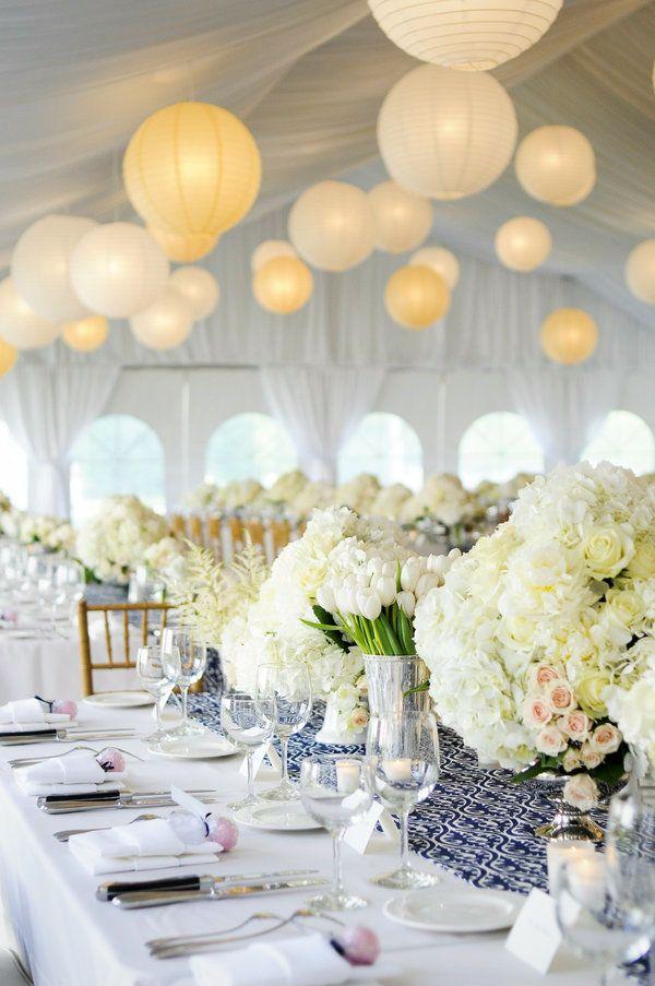 Bodas en azul con ejemplos de decoraci n llena de encanto Arreglos para boda en salon