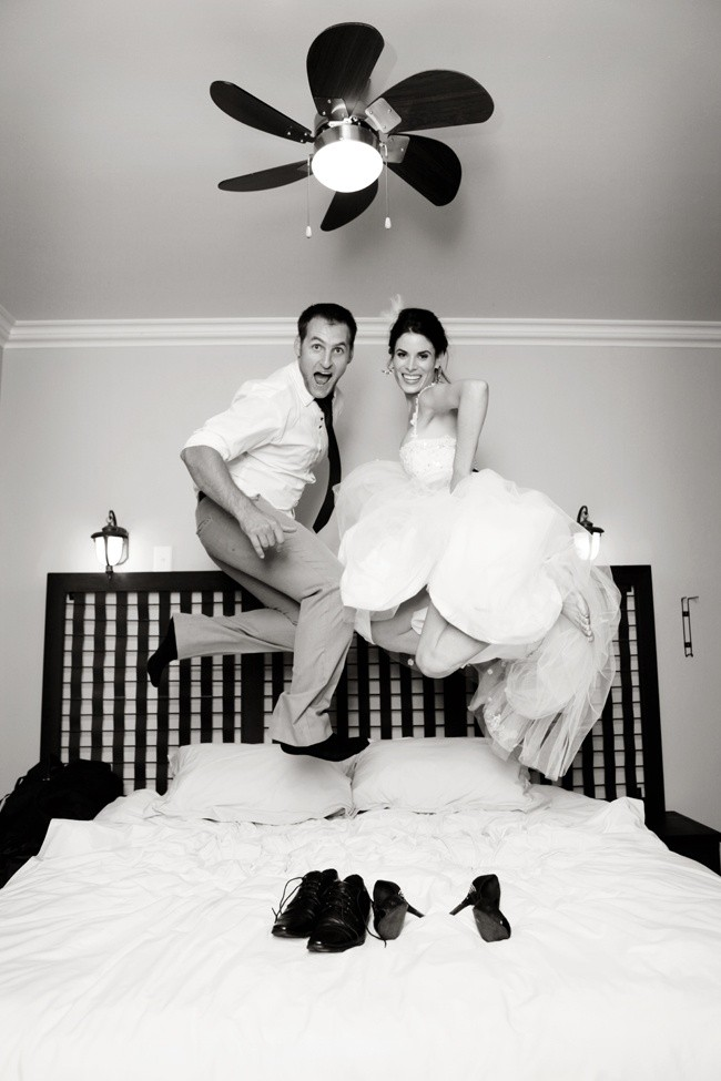 Disfruta de tu primer noche de casada!