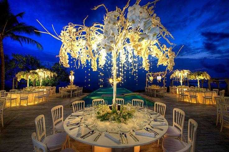 Una decoración de mesas simplemente increíble!