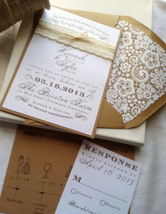 Wedding Invitation Assembly with beautiful invitation ideas