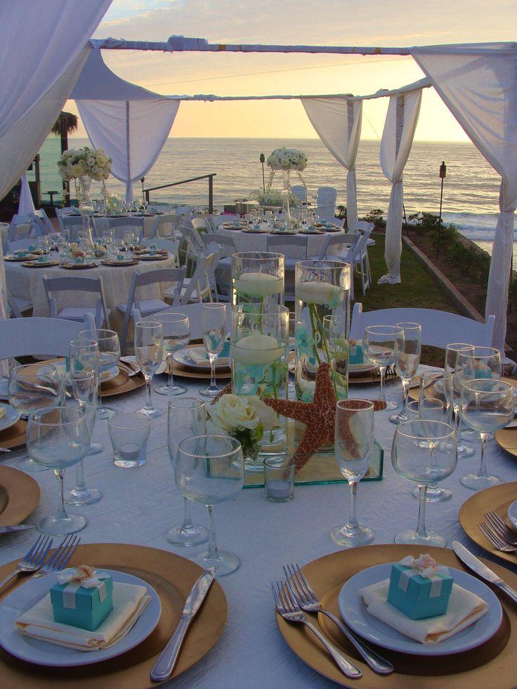 Centros de mesa para boda en la playa originales y creativos - Cristal para mesa ...
