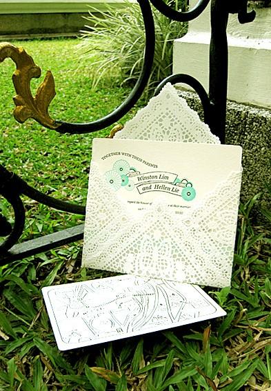 Encuentra el tuyo entre estos 20 sobres para invitaciones de boda originales y creativos! Este sobre con puntilla es un sueño!