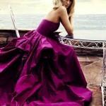 Magnifico vestido de novia en orquidea radiante