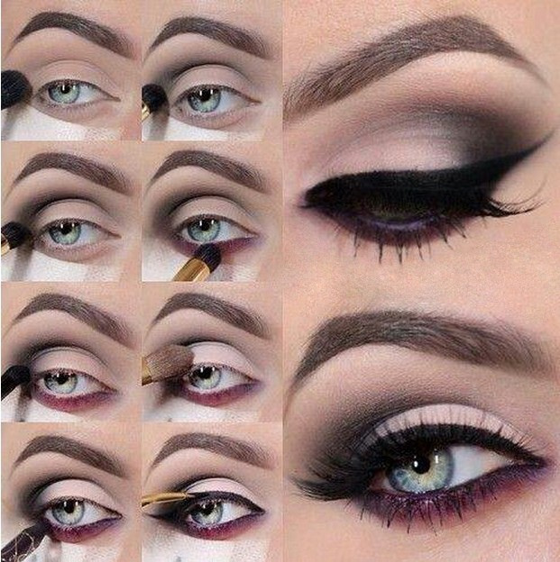 maquillaje para ojos negrosmarrn oscuro
