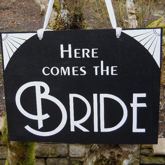 Cartel estilo glam Hollywood para anunciar la llegada de la espectacular novia