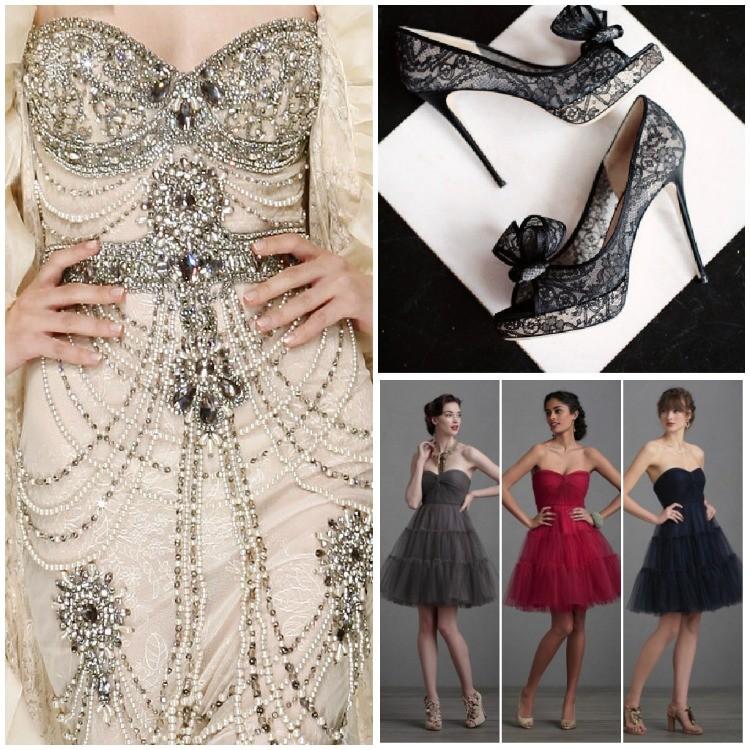 Vestido de Novia de Zuhair Murad, zapatos y vestidos cortos para glam rock es el comienzo para como planear una boda estilo Glam Rock