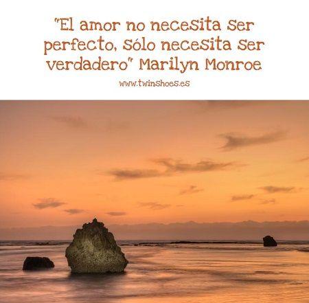 Frase romántica de Marilyn Monroe