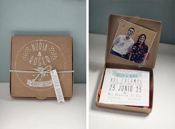 11 Diseños de invitaciones rústicas para boda increíbles! Cajas con invitaciones rústicas