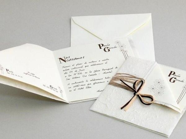 Papel natural para invitaciones modernas y rústicas y más diseños!!!