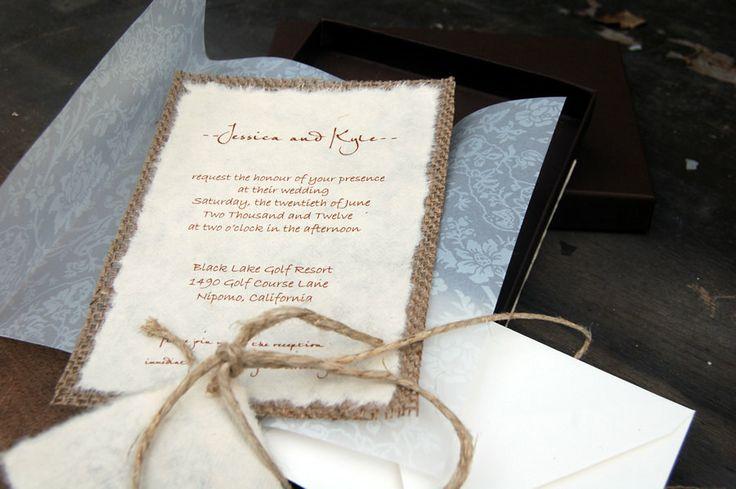 Papel con dibujos en relieve para tus invitaciones rústicas para boda