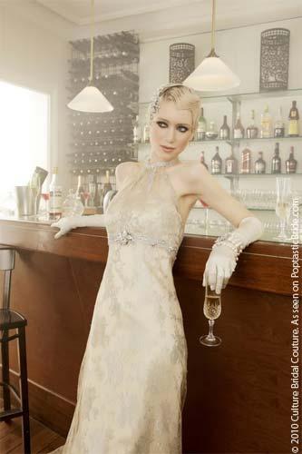 Vestido de novia vintage glam años '20