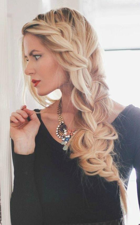 Trenza con volumen para un peinado diferente | 20 fotos de peinados para novias actuales y elegantes