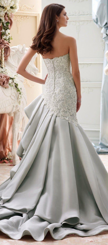 Vestido de novia David Tutera en gris 2015