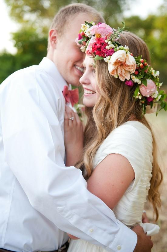 Coronas de flores para las novias boho