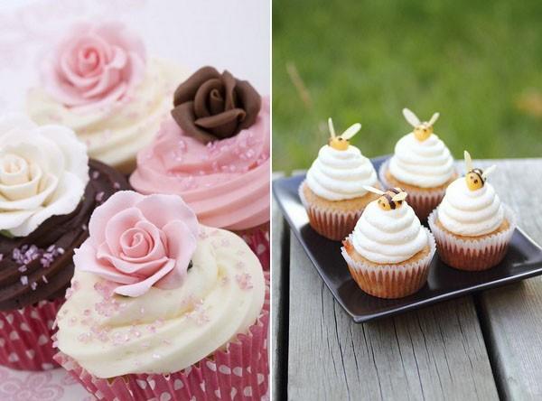 Decoración de cupcakes original y perfecta para bodas
