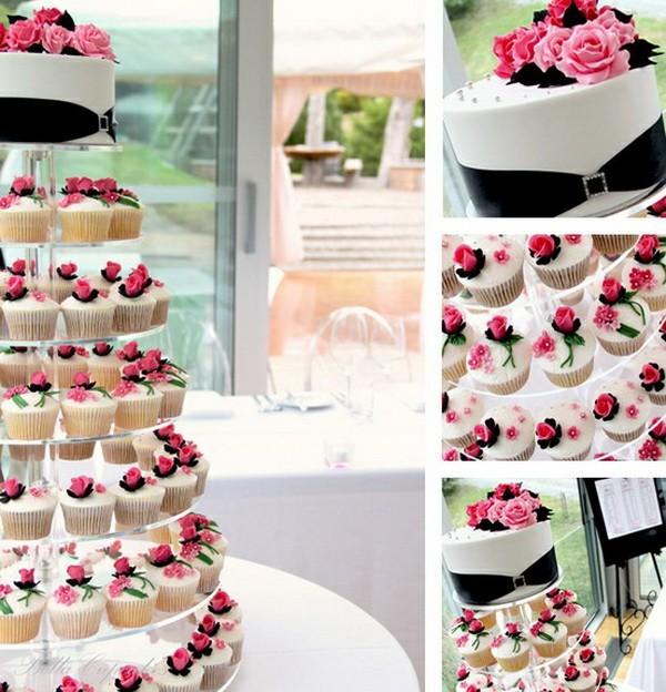 Cupcakes con rosas, la idea más romántica para tu postre de boda