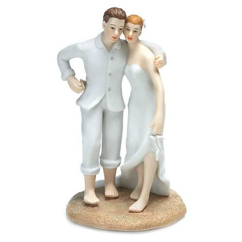 Muñecos de novios para tartas de bodas en la playa