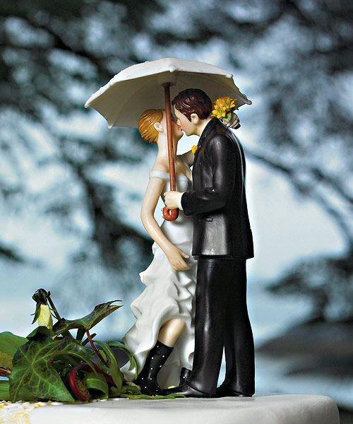 Figura de tarta para boda al aire libre
