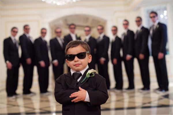 Los niños también son protagonistas de imágenes de boda divertidas