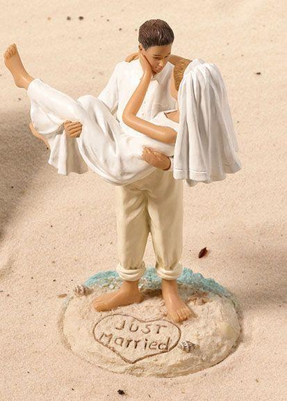 Una boda en la playa nos deja este recuerdo tan especial de los novios
