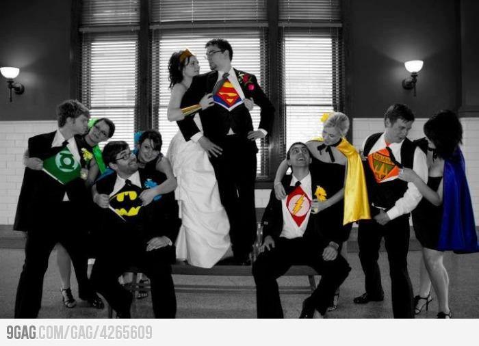 Los Super-Héroes también pueden estar en tu boda