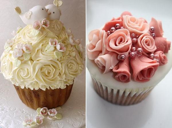 Diferentes tipos de decoración para cupcakes pero siempre muy elegantes