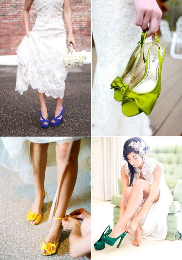 b01f8988 Zapatos para novia en tonos muy brillantes y vibrantes