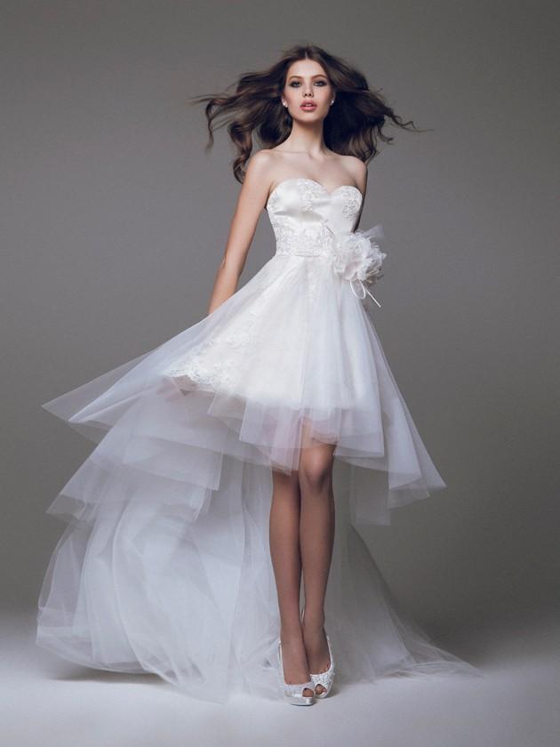 Vestido de novia con corte asimétrico de Blumarine