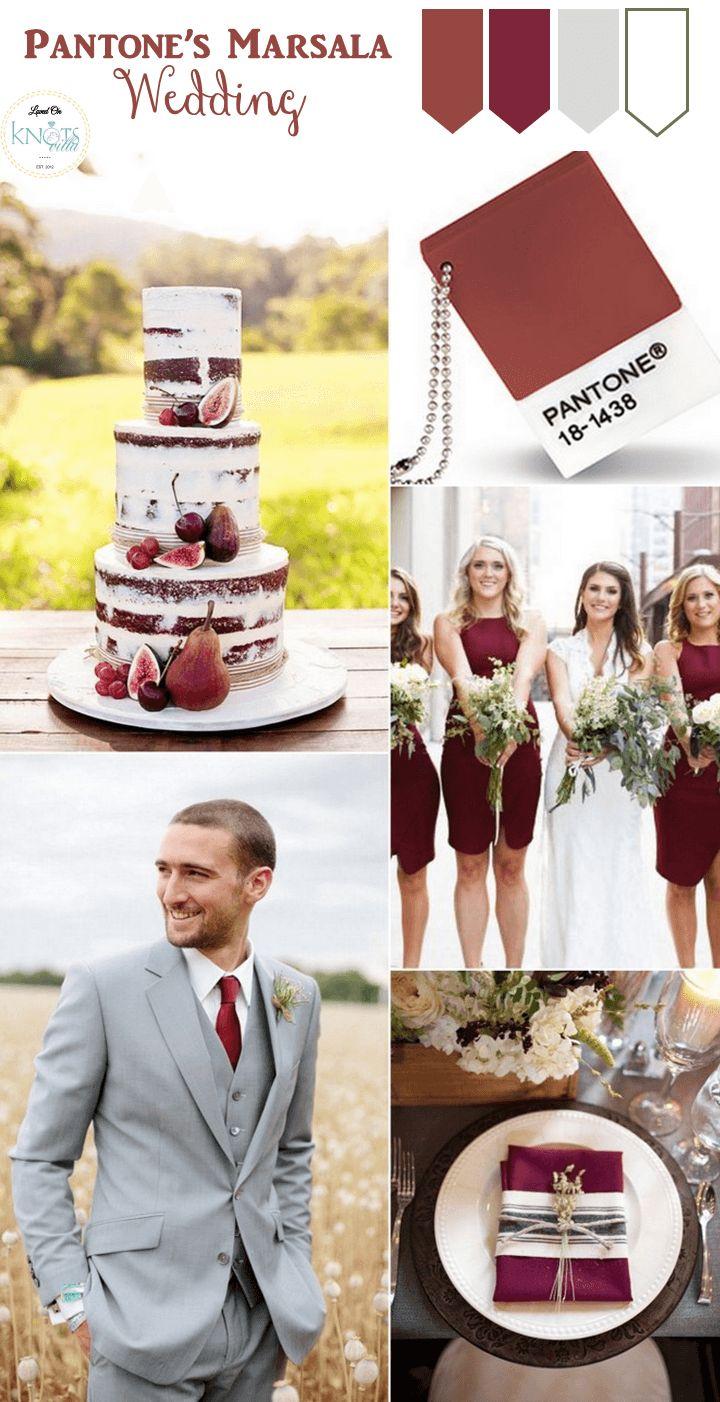 Una boda llena de color Marsala en todos sus detalles...¿te animas?