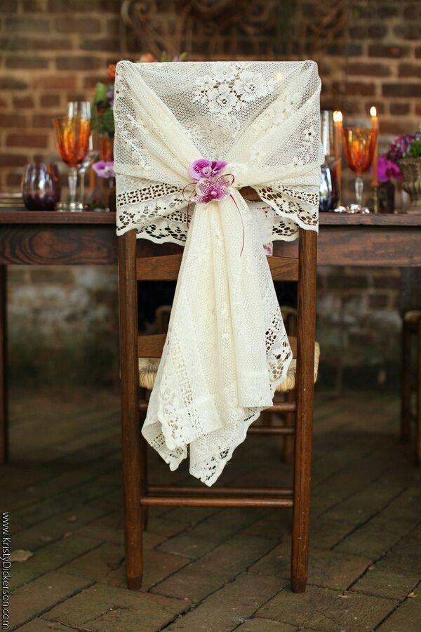 Decoraci243n para bodas R250stica y Shabby Chic : silla vintage rustica from bodasnovias.com size 600 x 900 jpeg 84kB