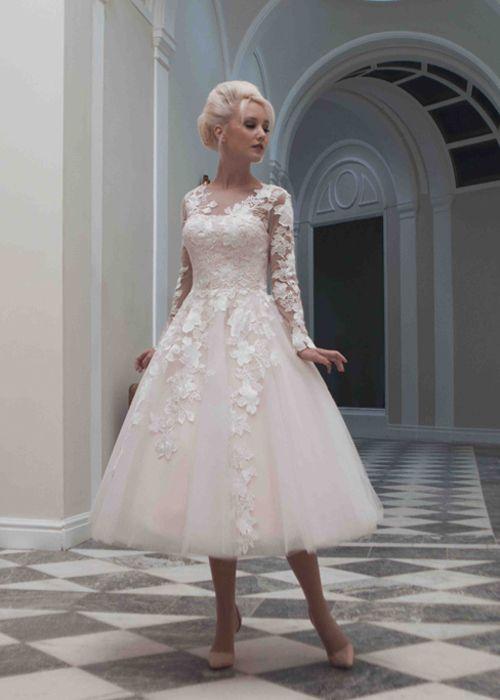 60dbe44c2836 Vestidos de novia cortos - ¡espectaculares ejemplos para ti!