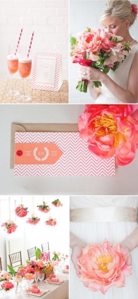 Decora tu boda con el color coral este verano - Decorar tu boda ...