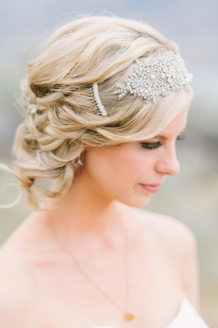 (Whitney Heard Photography // Hair and Makeup Cheri Chung) (Above) The Ariella couture headpiece from Gade Gaard Design is another gatsby style, and oh so twenties, Vintage-Inspired Bridal Hair Piece which we adore for !