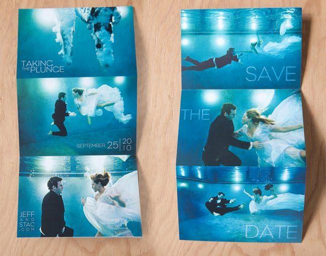 Unas impactantes imágenes de los novios pueden ser las protagonistas del Save the Date