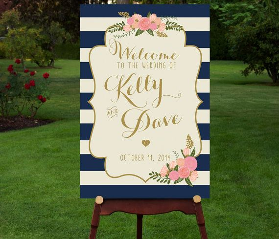 Hasta el cartel de la boda lleva uno de los estampados de la temporada