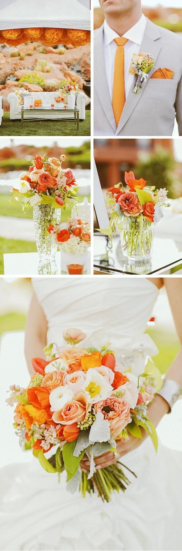 Destellos de buen gusto cuando decoramos en color mandarina