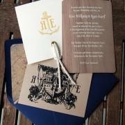 Invitación con estilo marinero