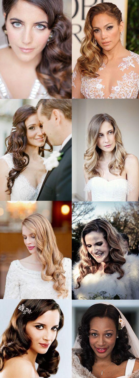 Las ondas son uno de los detalles principales para las novias que llevan el cabello suelto