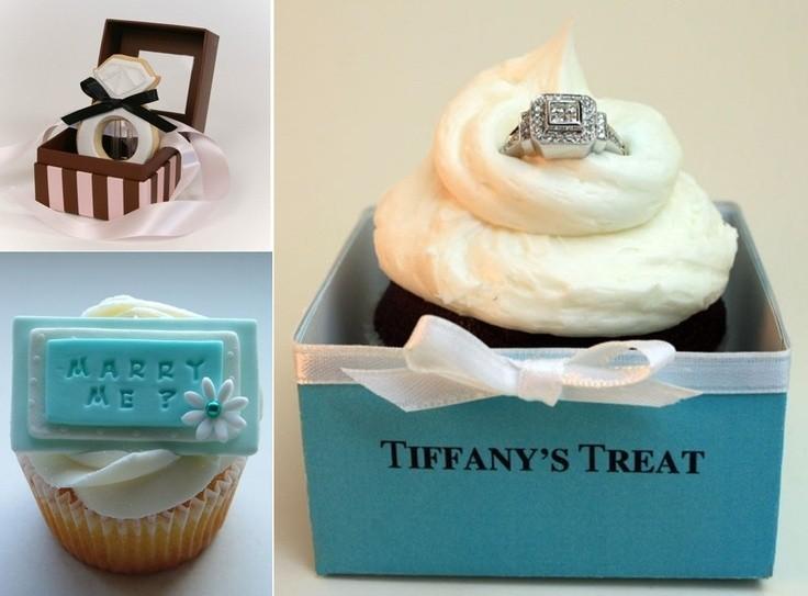 Los cupcakes también pueden llegar a ser muy románticos para un momento tan importante