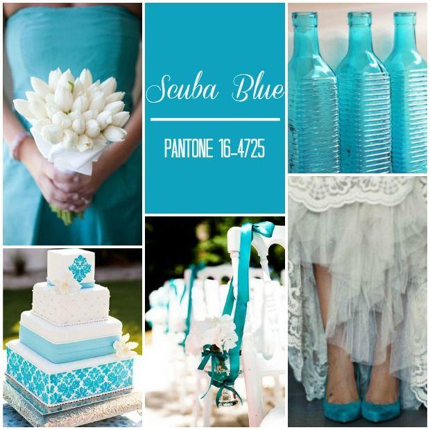 ¿Qué te parece el color Scuba Blue para añadir a las bodas 2015?