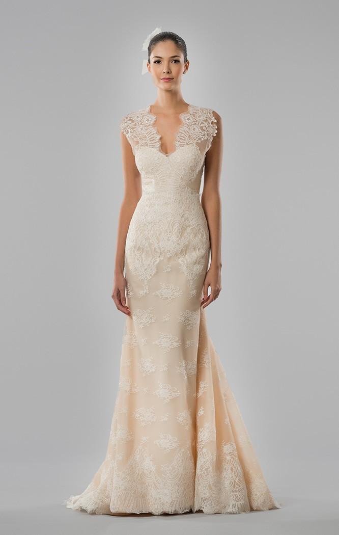 Pinceladas de color para el vestido de novia de Carolina Herrera