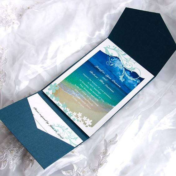 Déjate envolver con las olas del mar en esta invitación