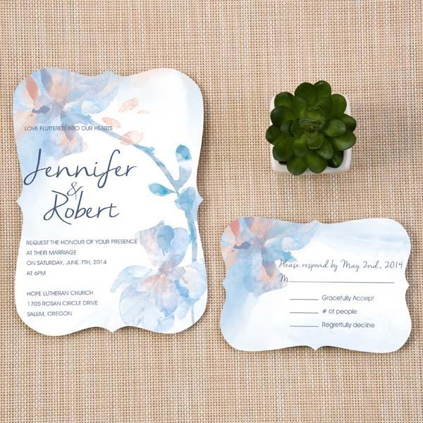 Deja que el color decora tu mejor invitación de boda