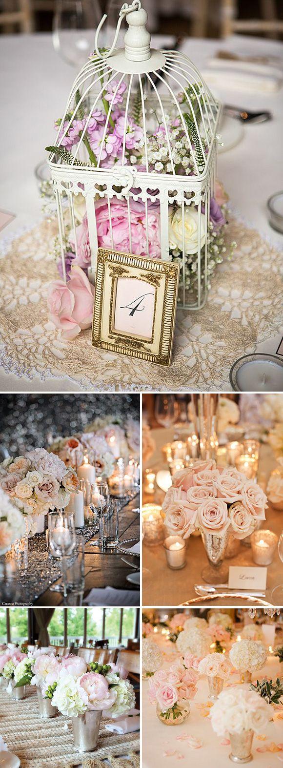 Colores pastel y rosas en la decoración de bodas románticas