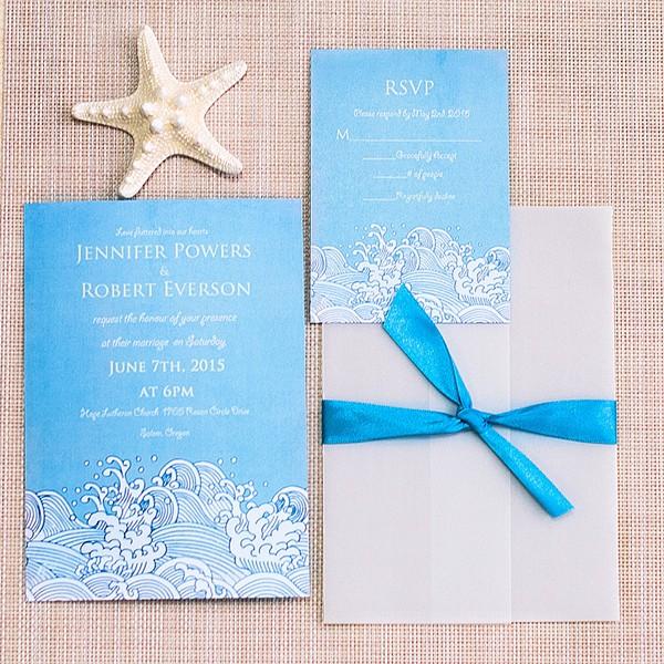 Para tu boda en la playa, una invitación con estilo